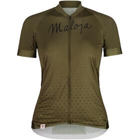 Maloja HaslmausM. 1/2 Maglietta da Ciclismo a Maniche Corte Donna, verde oliva
